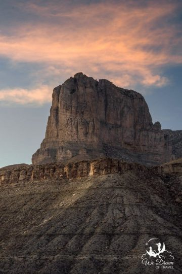 El Capitan with sunset clouds