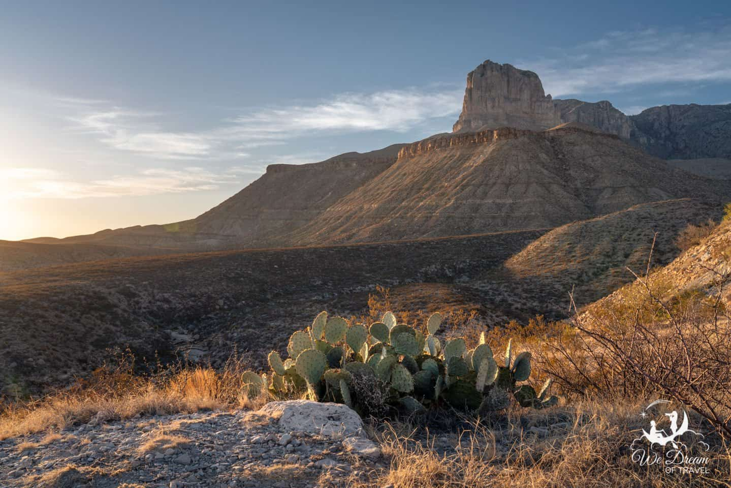 While technically outside the park, El Capitan Lookout is my favorite place to photograph sunrise and sunset near Guadalupe Mountains NP.