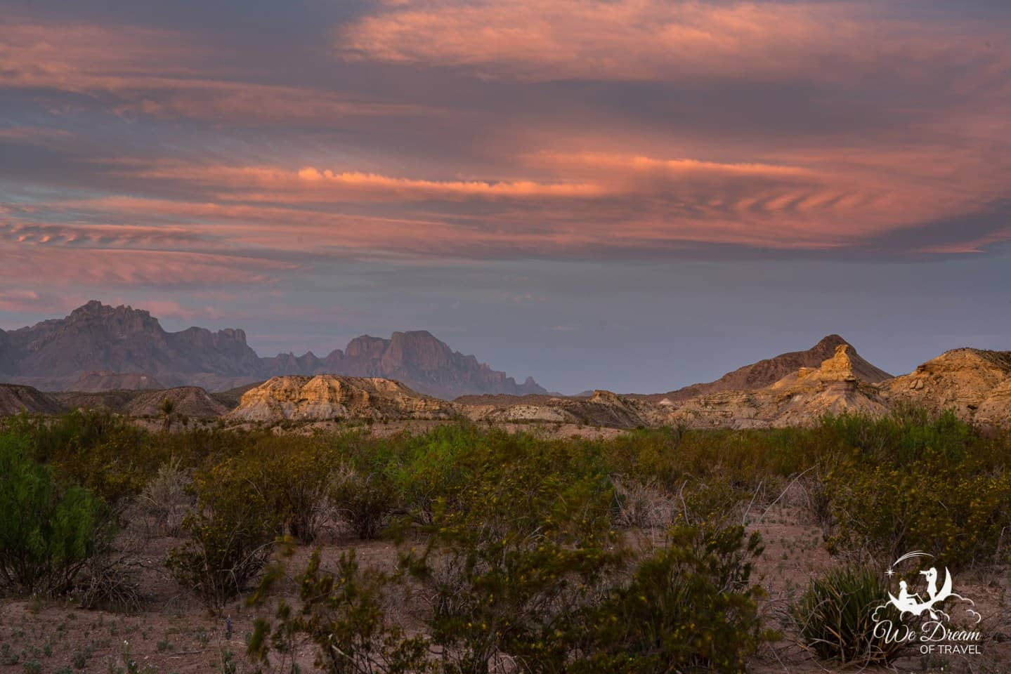 Sunrise pictures of Big Bend National Park from Exhibit Ridge.