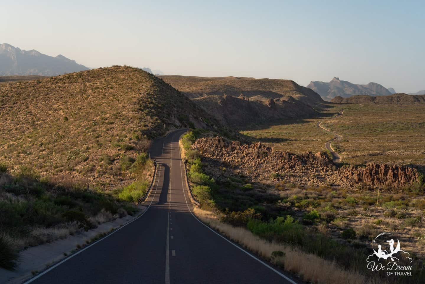 Big Bend Photography of the winding Ross Maxwell Scenic Drive.