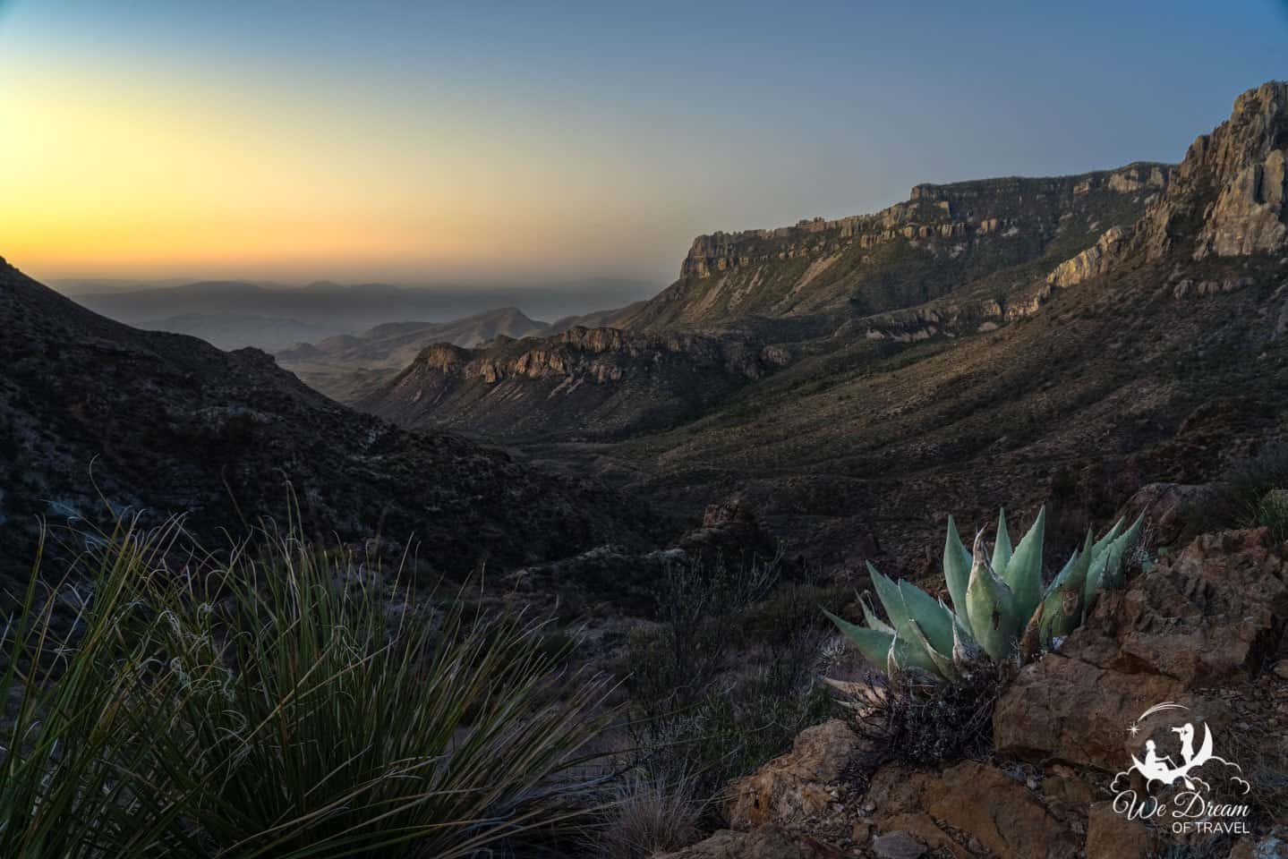 Sunrise picture from Lost Mine Trail in Big Bend NP.