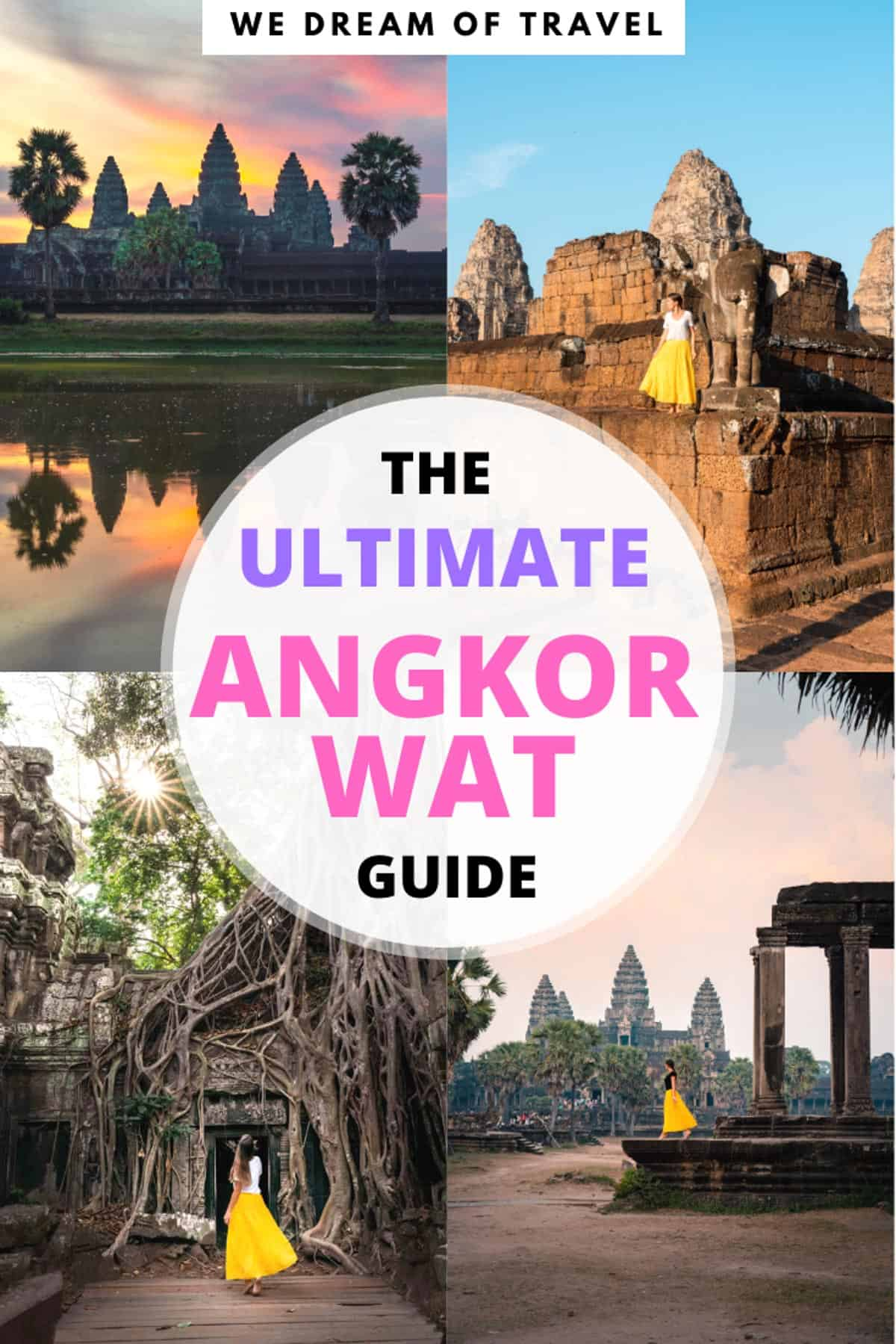 This essential guide to Angkor Wat, Cambodia, tells you EVERYTHING you need to know to plan the perfect trip to this UNESCO heritage site. With over 1000 temples in the Angkor Wat archaeological complex, it can be hard trying to figure out your perfect trip. Full of Angkor Wat photography to help inspire your trip as well as useful information about how to get to Angkor Wat, how to buy tickets, where to stay and which temples to visit. #angkorwat #siemreap #cambodia #travelguide