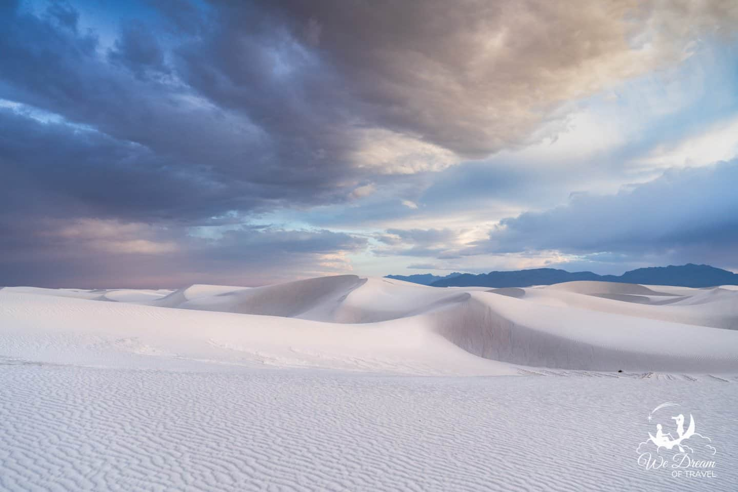 Take a short, unmarked stroll through the Backcountry Trail Loop of White Sands National Park.