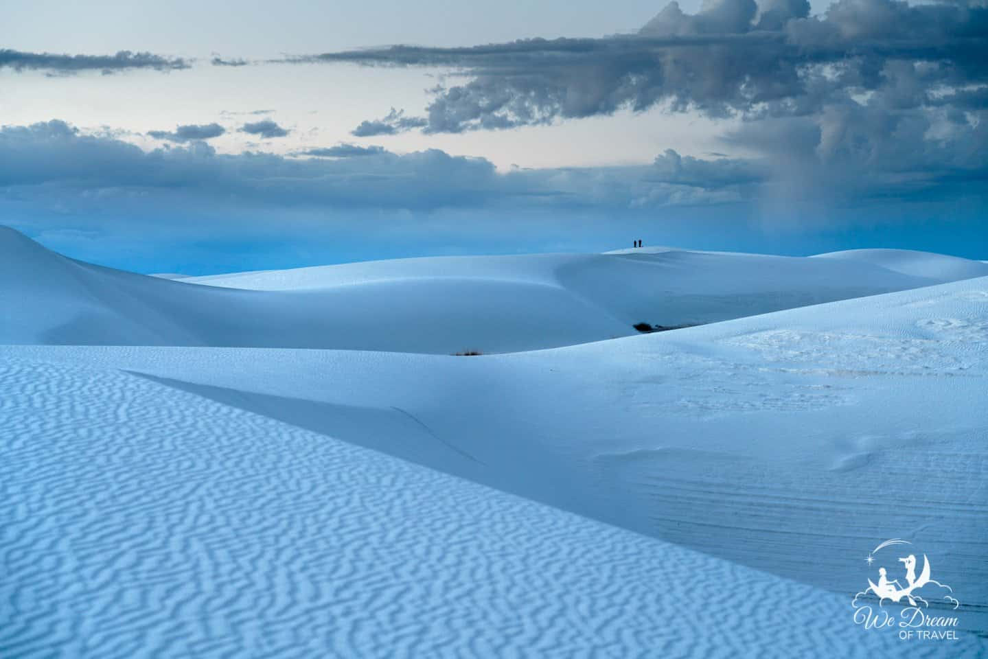 Be sure to bring GPS to help you navigate White Sands NP as the wind will erase your footprints!