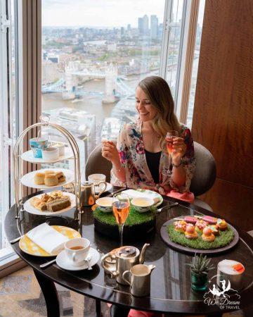 Afternoon tea with incredible views over London at Ting Restaurant at  Shangri-La Shard London