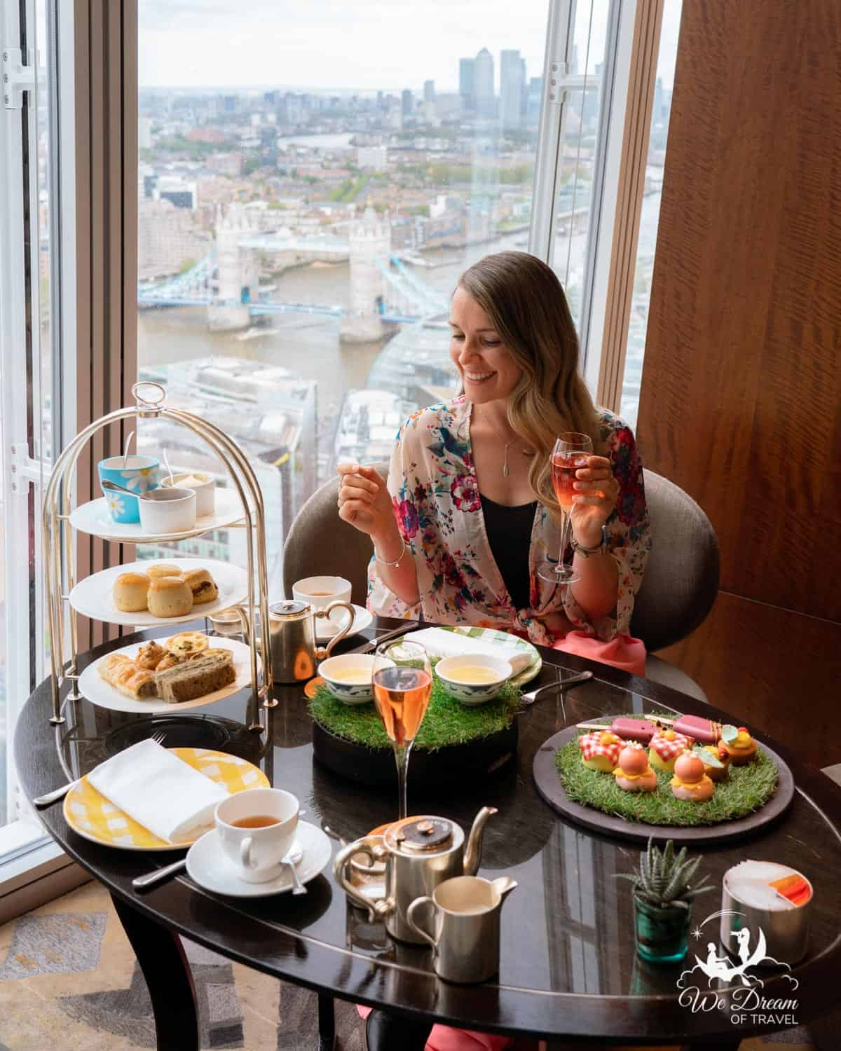 Afternoon tea at The Shard is a London bucket list essential