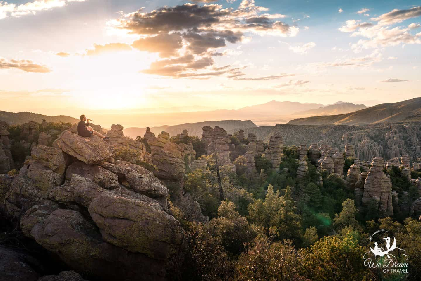 Heart of Rocks in one of my favorite sunset destinations in Chiricahua National Monument.