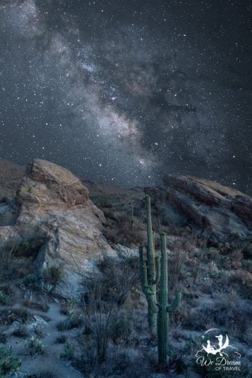 Milky Way night photography from Saguaro NP.