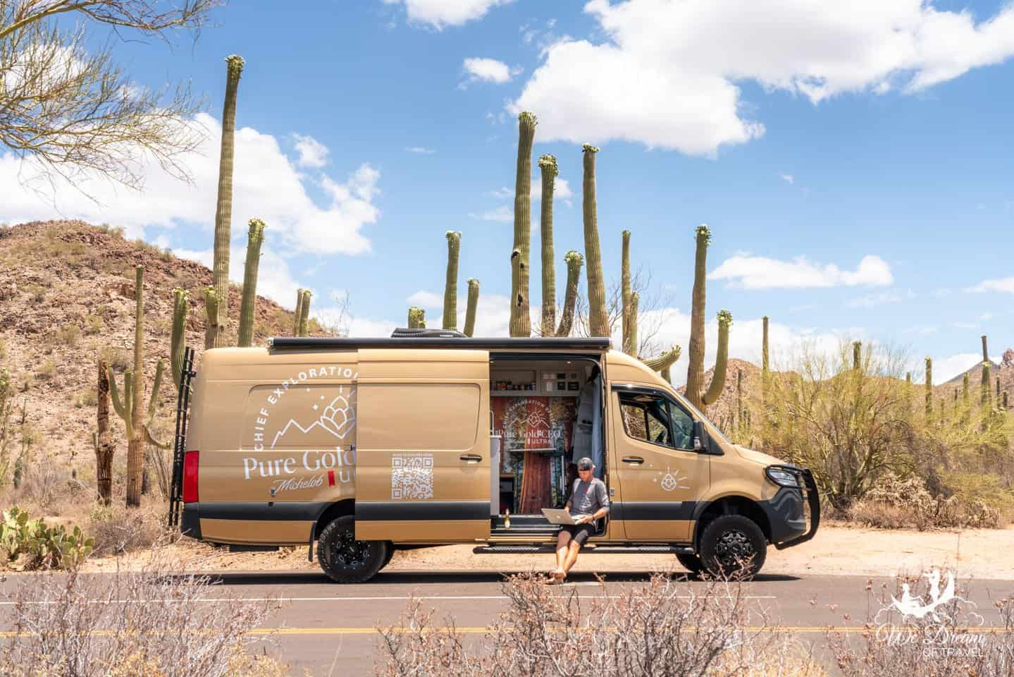 Living the van life in Saguaro National Park.