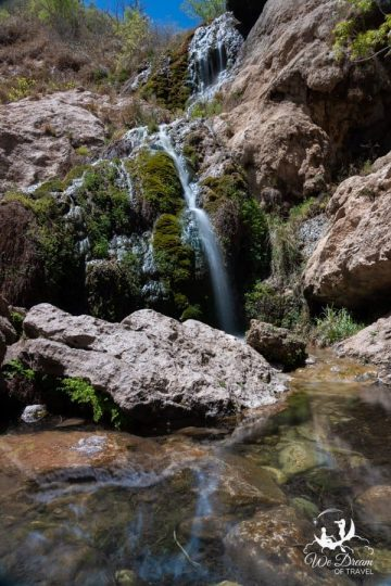 The second waterfall at Sitting Bulls Falls Recreation Area.