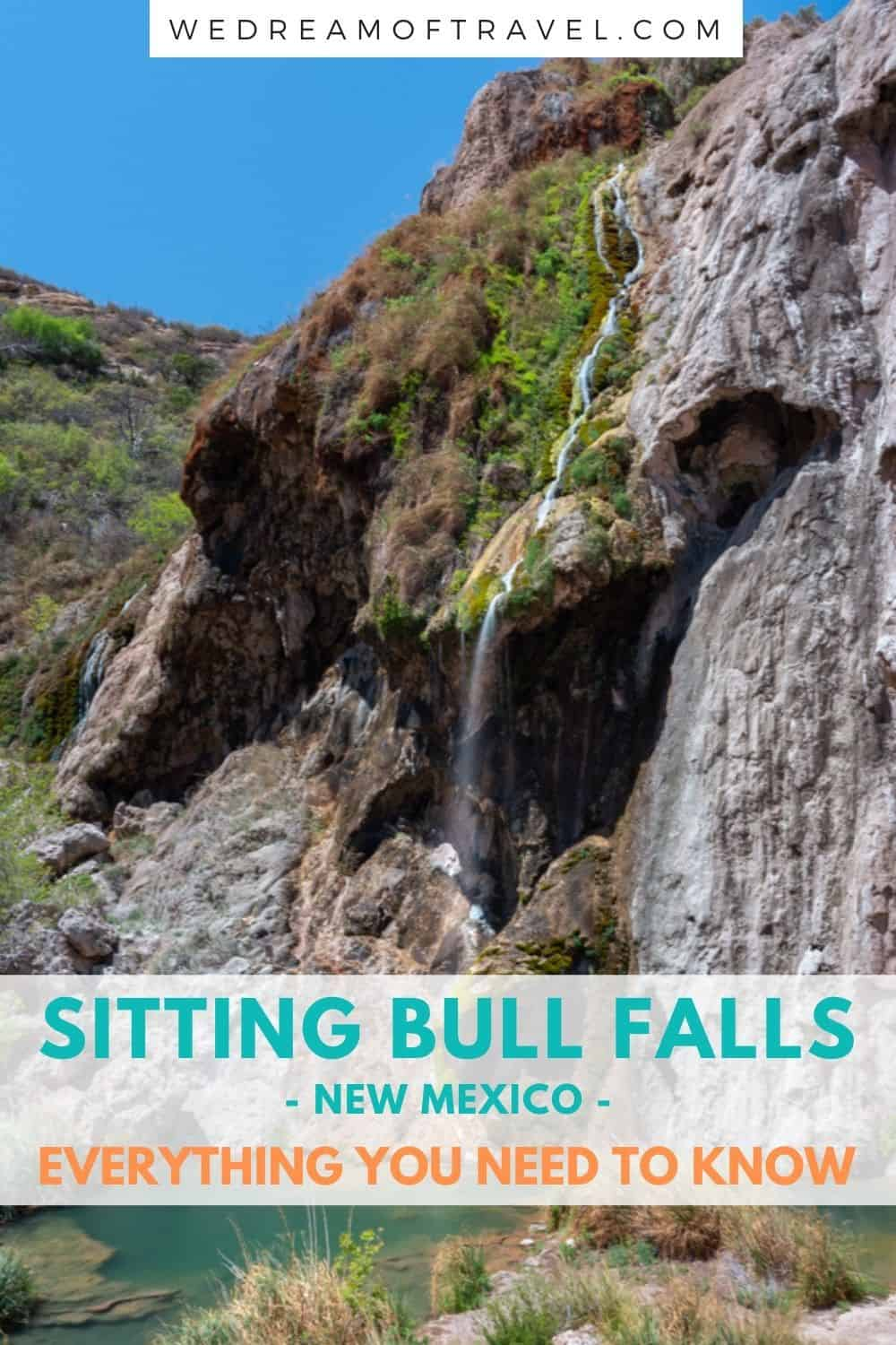 Sitting Bull Falls in New Mexico provides an oasis in the middle of the desert!  Discover everything you need to know about visiting these magical waterfalls.  #NewMexico #SittingBullFalls