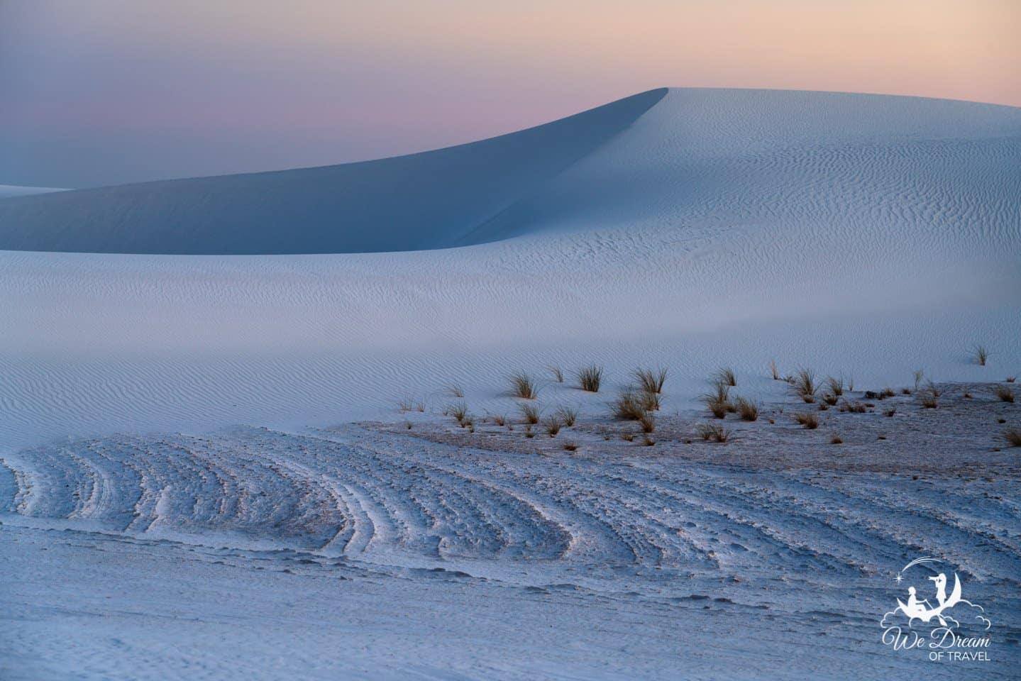 Soft light on the dunes of White Sands.