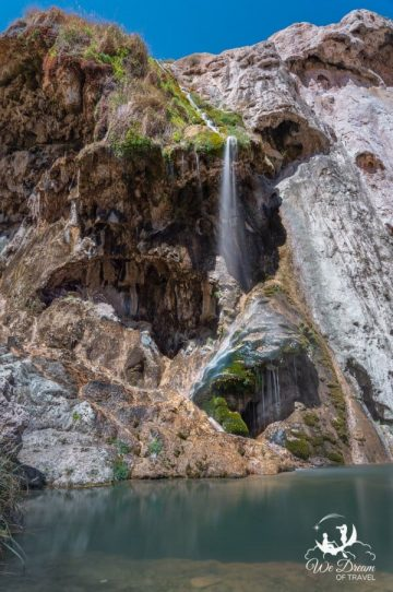 Escape the heat at the desert oasis of Sitting Bull Falls Recreation Area.
