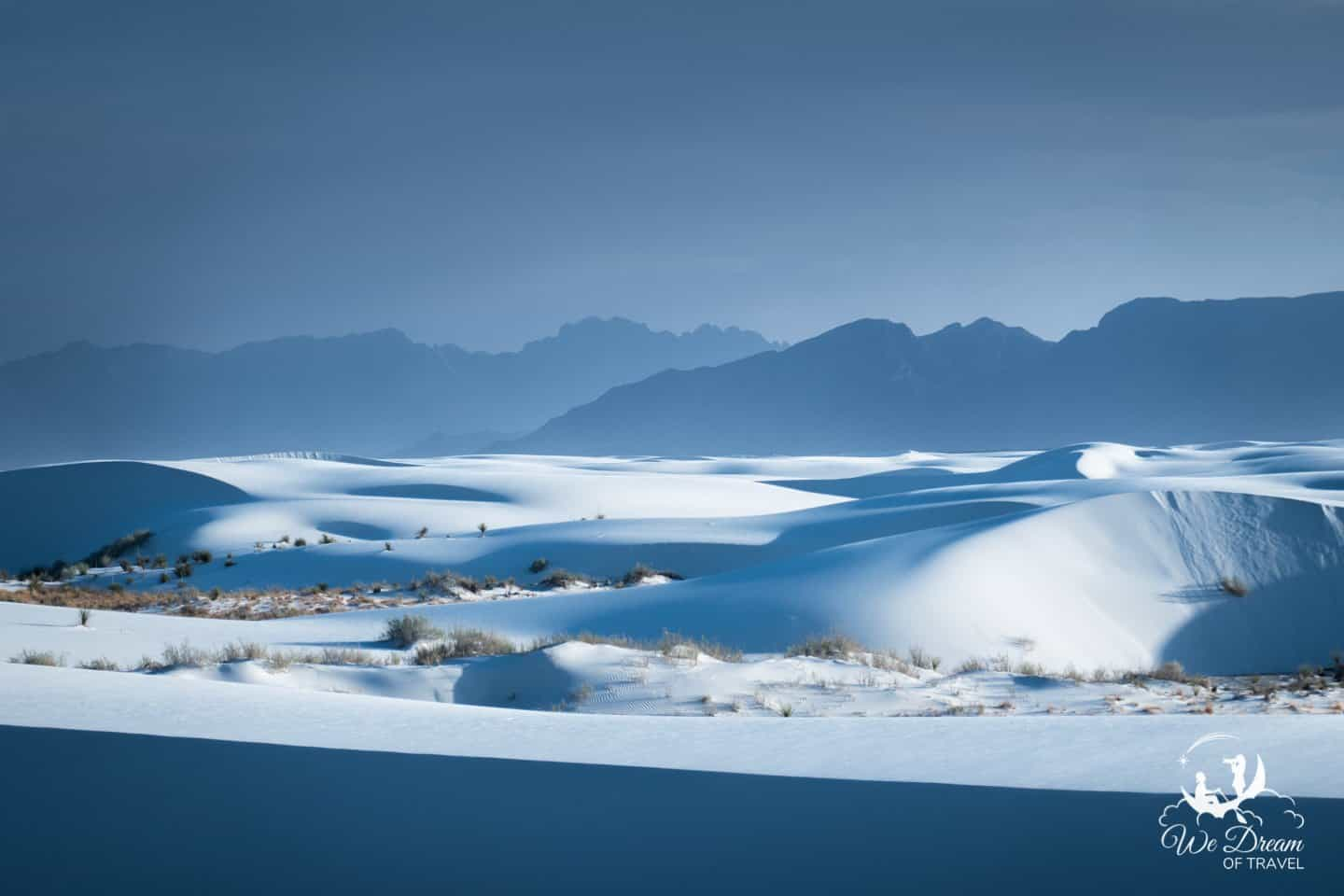 White Sands NP photography showcasing the layered sand dunes.