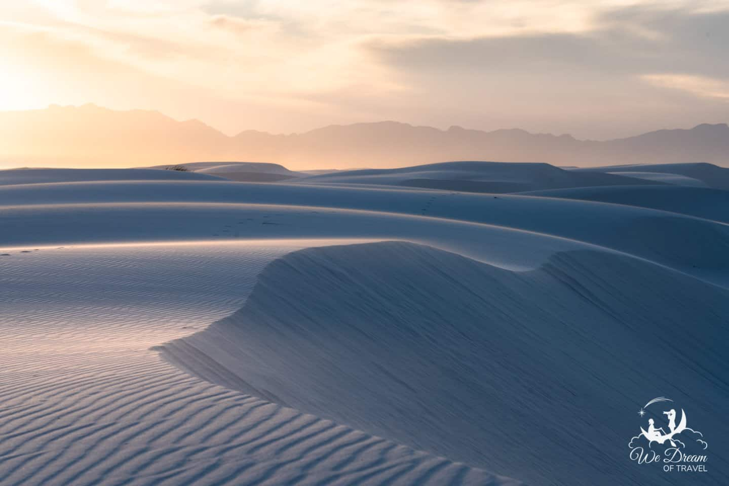 Be sure to visit White Sands National Park during the evening as the landscape changes dramatically.