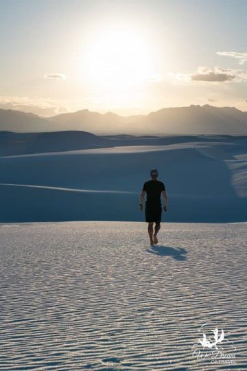 The only way to get around White Sands NP is by car and foot!
