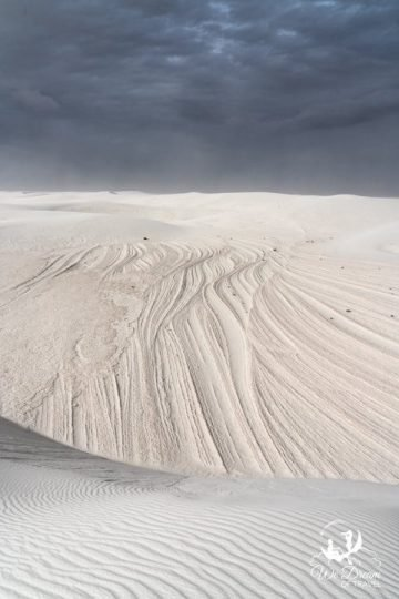 Moody landscape photography of White Sands National Park.