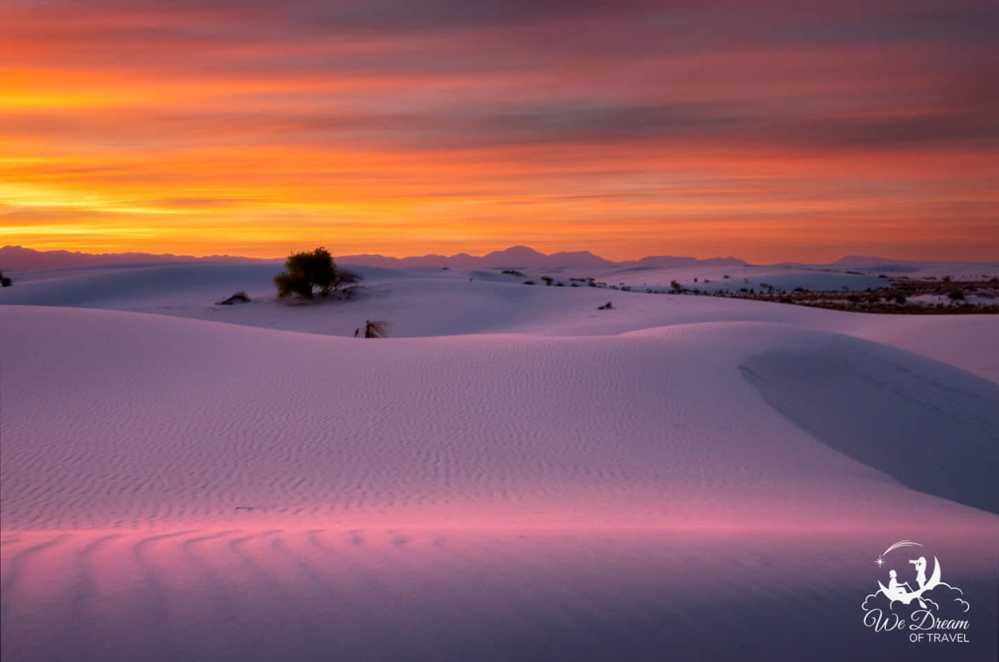 White Sands Sunset photography featuring a vibrant color range.