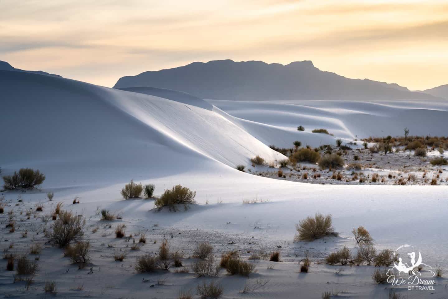 A golden moment at White Sands National Park.