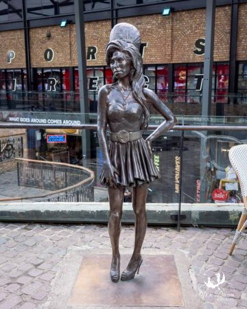 Amy Winehouse statue in Stables Market Camden.