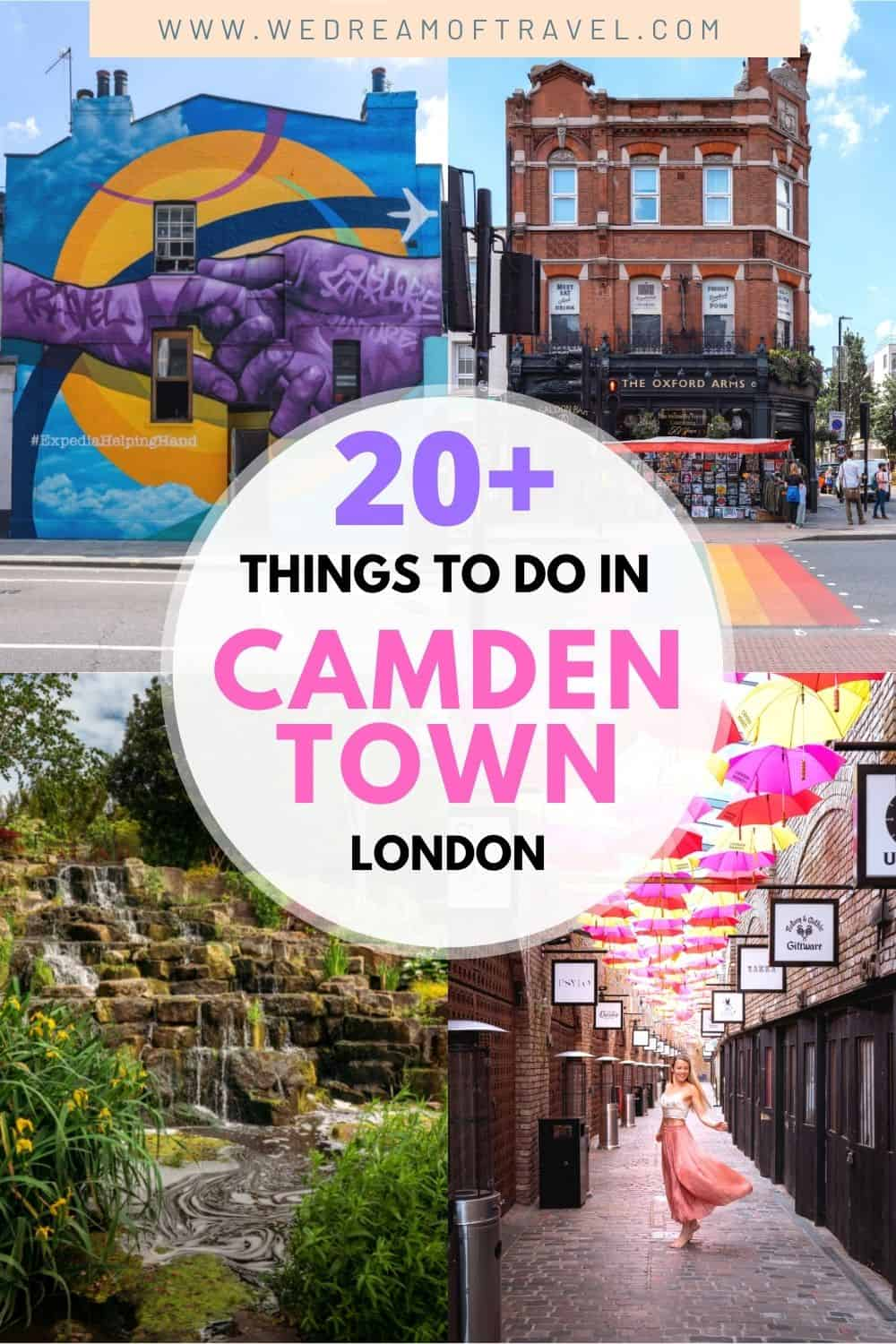 Camden is perhaps the quirkiest place in London and you'll find plenty of things to do in this fun neighbourhood.  From the hustle and bustle of Camden Market to the tranquility of The Regent's Canal, find plenty of things to do in London any time of day!  Camden Town | Camden London | Things to do in Camden | Things to do in London | London Travel | Camden Travel