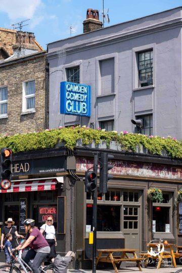 Camden Comedy Club above the Camden Head pub