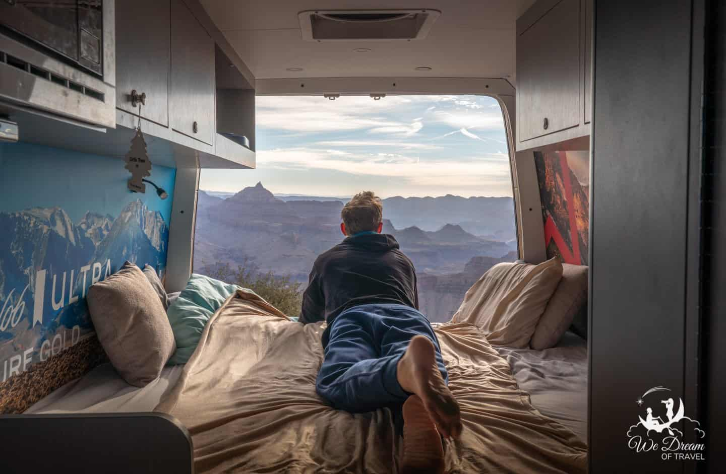 There are a lot of dispersed camping options near the Grand Canyon North Rim for those in a camper van.