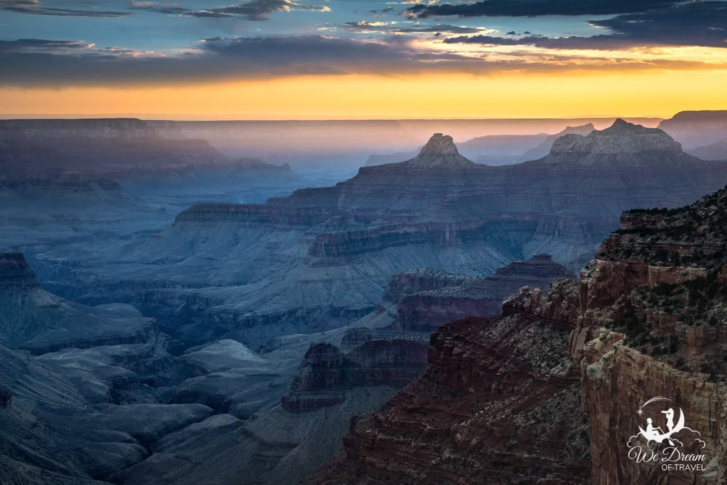 Photographing the changing color palette of the Grand Canyon at sunset from Cape Royal.