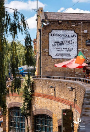 Outside of Dingwalls pub and music venue in Camden