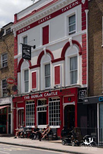 Outside of The Dublin Castle pub in Camden