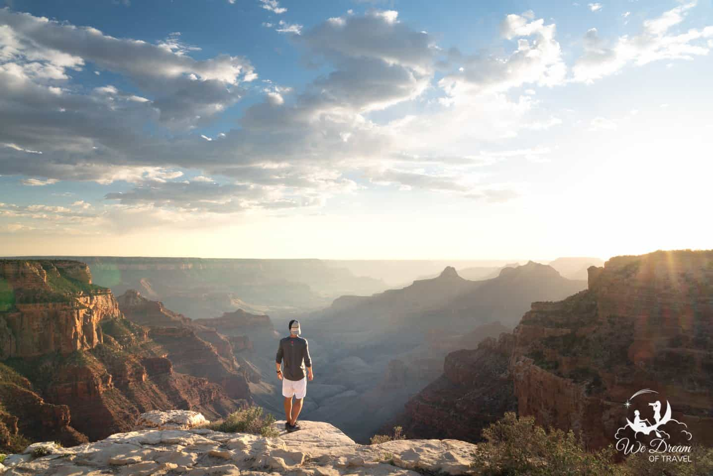 Watching sunset over the Grand Canyon from Cape Royal is a must!
