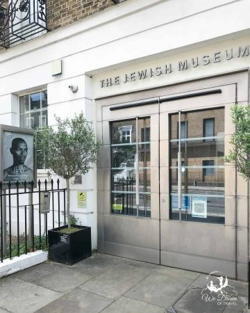 Entrance to the Jewish Museum in Camden Town, London