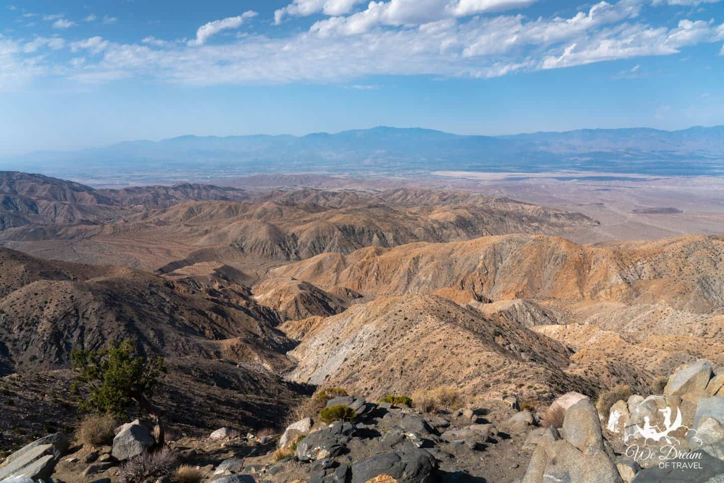 Keys View is the highest accessible point by car in Joshua Tree National Park.