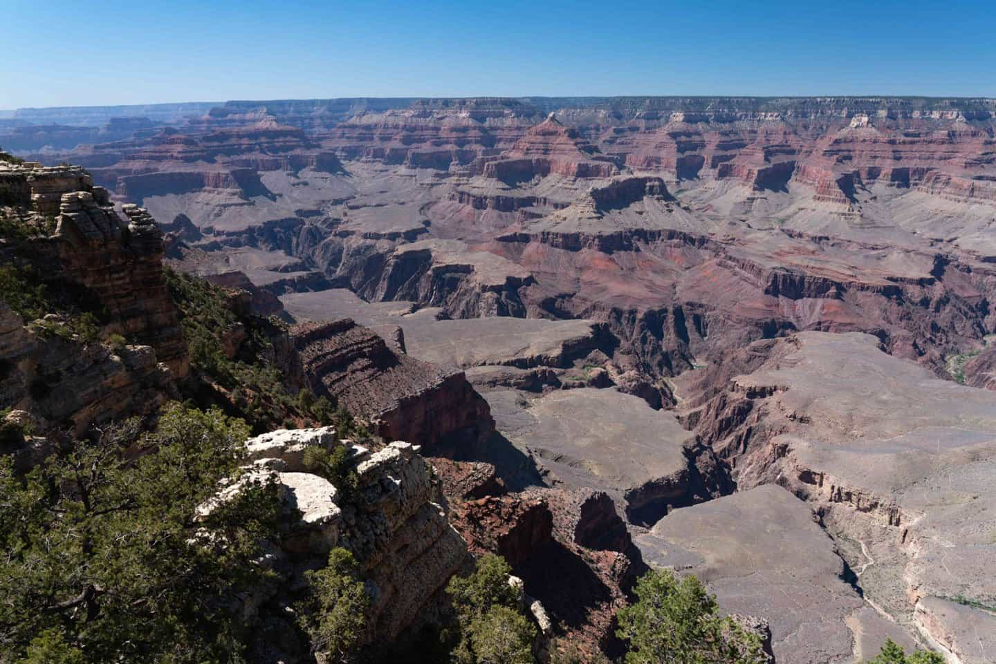 The view from Mather Point near the Grand Canyon Village.