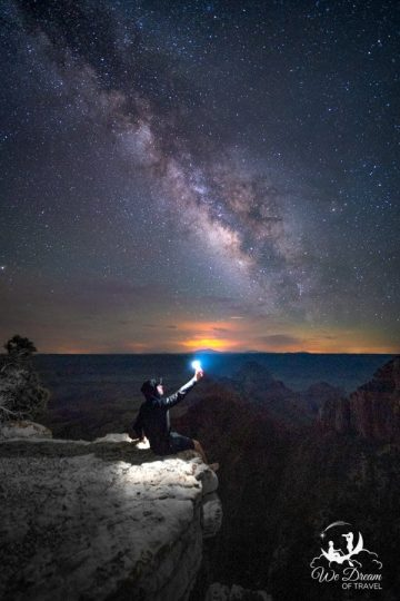 Milky Way photography over the Grand Canyon from the North Rim Scenic Road.