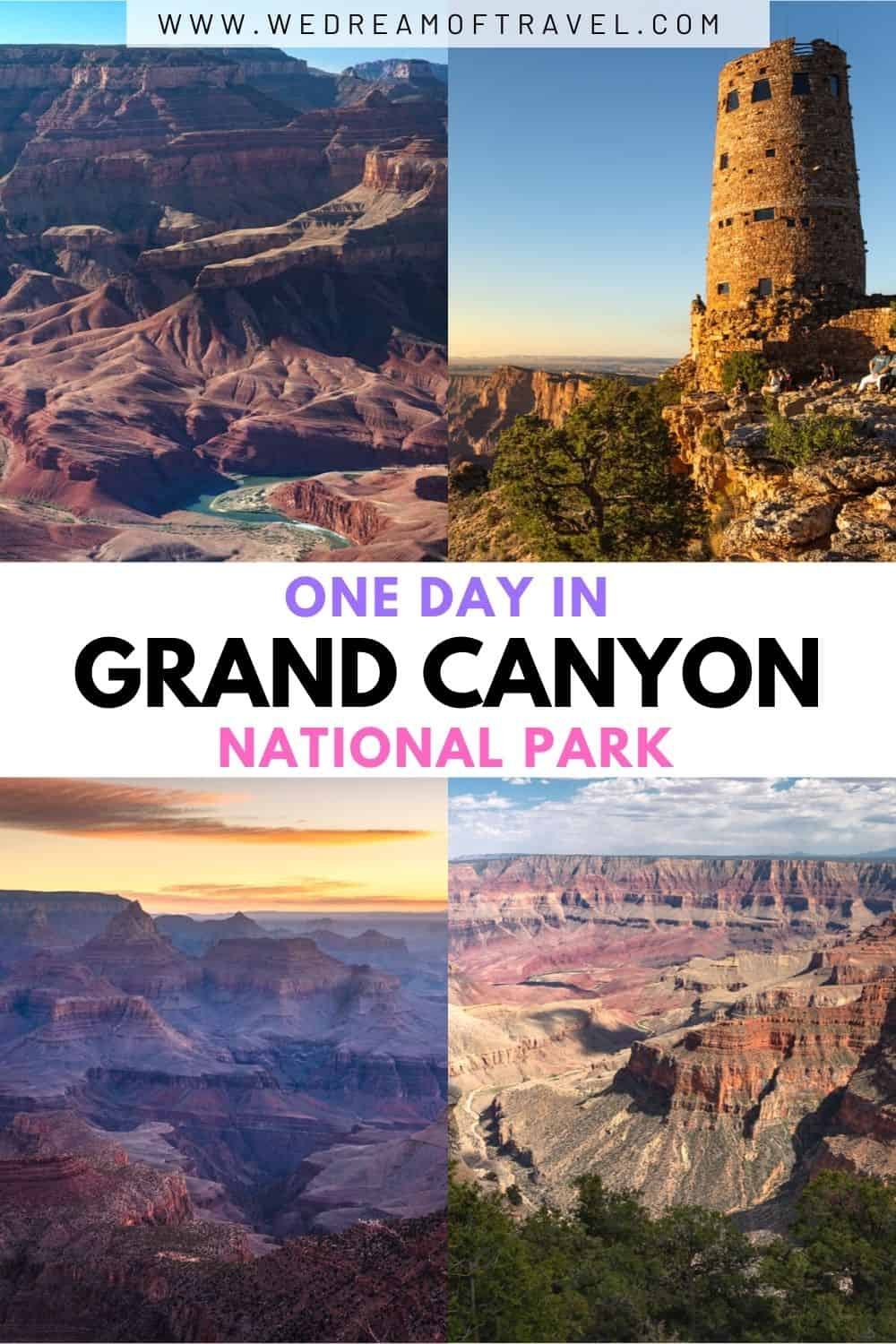 From sunrise to sunset, discover the most rewarding way to spend one day in Grand Canyon with this perfect day trip itinerary.  Including all the best things to do in one day in the Grand Canyon, plus helpful tips and a map.