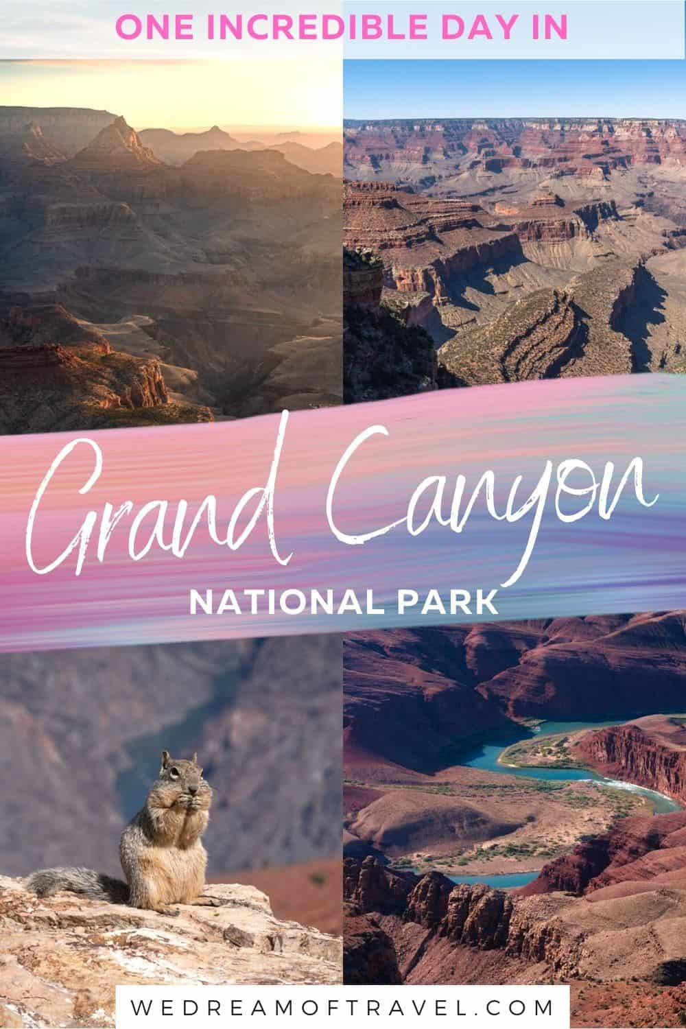 Discover everything you need to plan the perfect one day in Grand Canyon itinerary.  With all the best things to do, best South Rim viewpoints, practical tips, map and more!