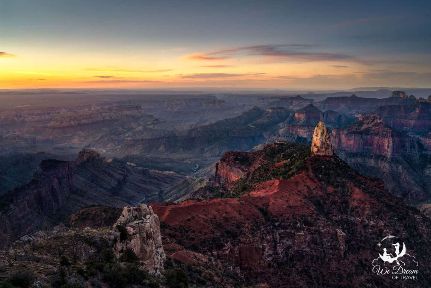 Point Imperial on the Grand Canyon North Rim is an incredible location to photograph sunrise.