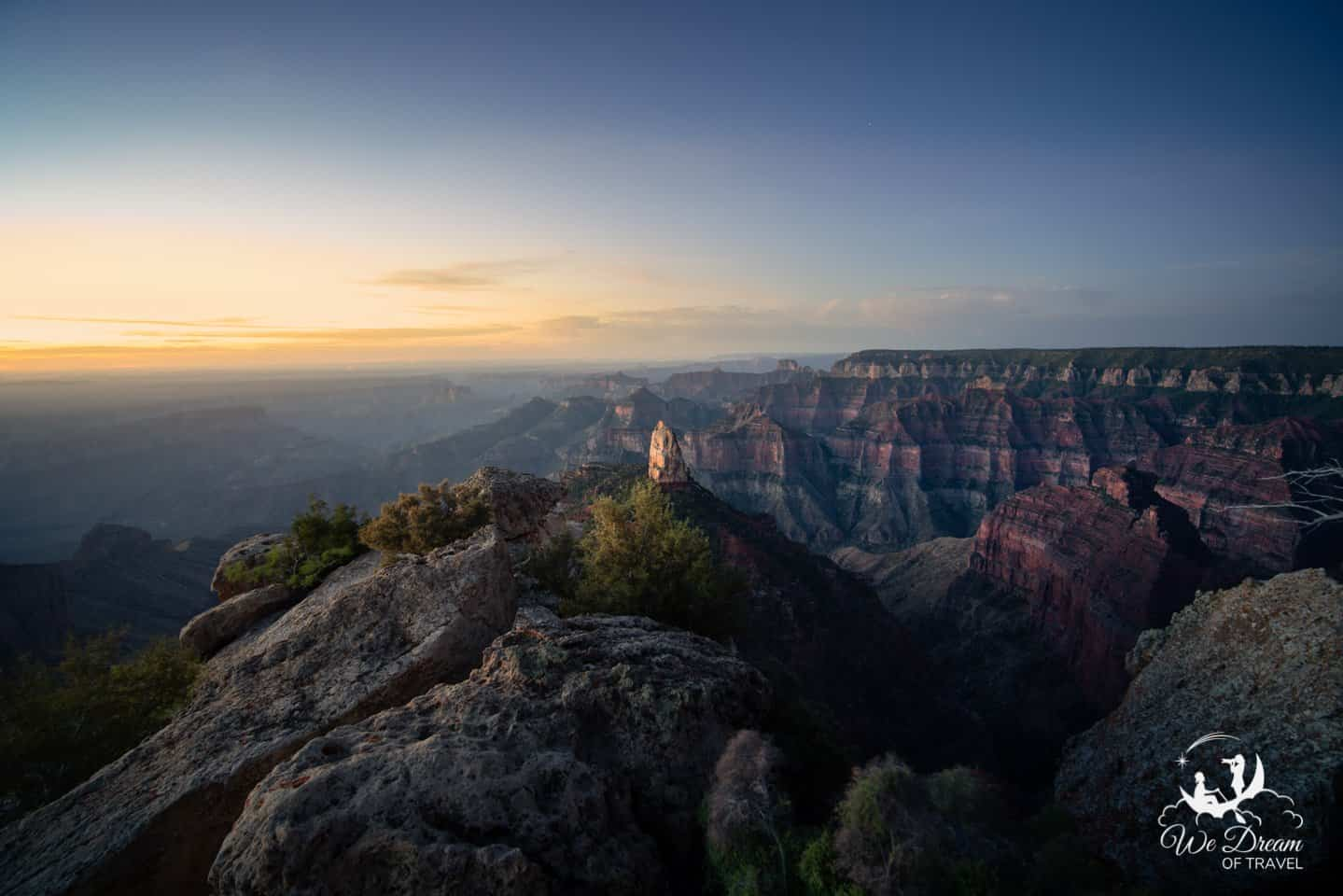The isolated rock at Point Imperial makes for a perfect subject for a sunrise shoot in the North Rim.