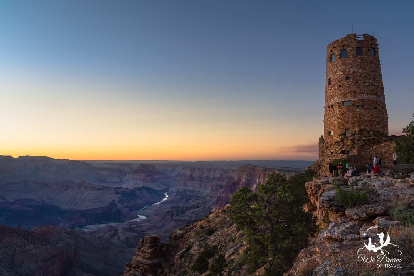 Get your one day in Grand Canyon started right by feeding your eyes and stomach with breakfast at Desert View Watchtower.
