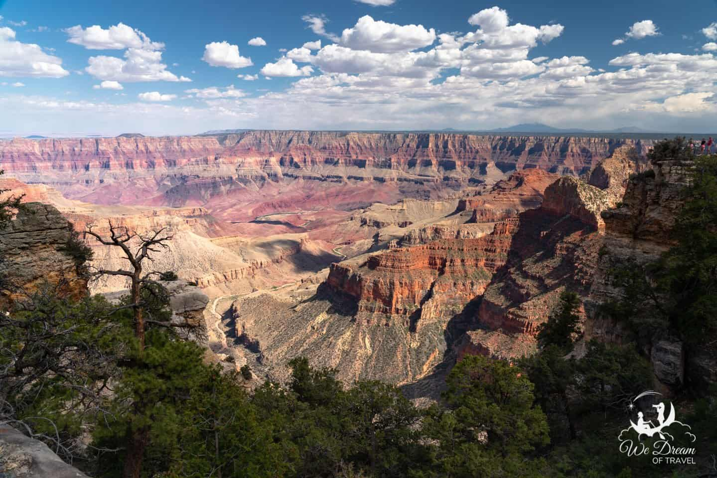 The view from Walhalla Overlook is one of my favorites on the Grand Canyon North Rim Scenic Drive.