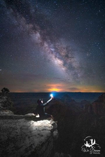 Self-portrait of the Milky Way rising over the Grand Canyon from Walhalla Overlook.