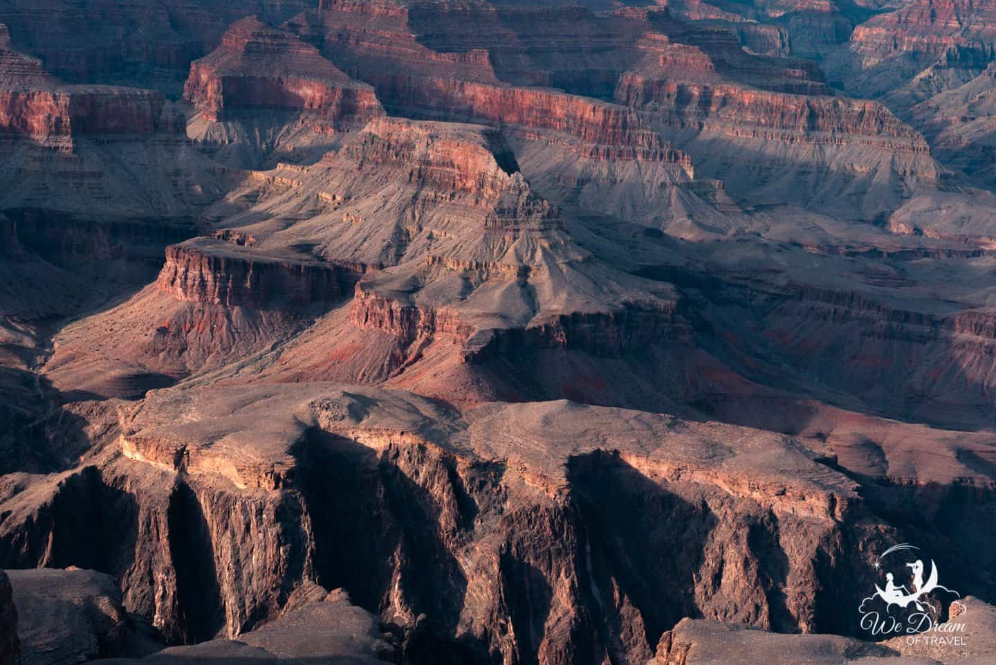"""Close up view of the Grand Canyon """"temples"""""""