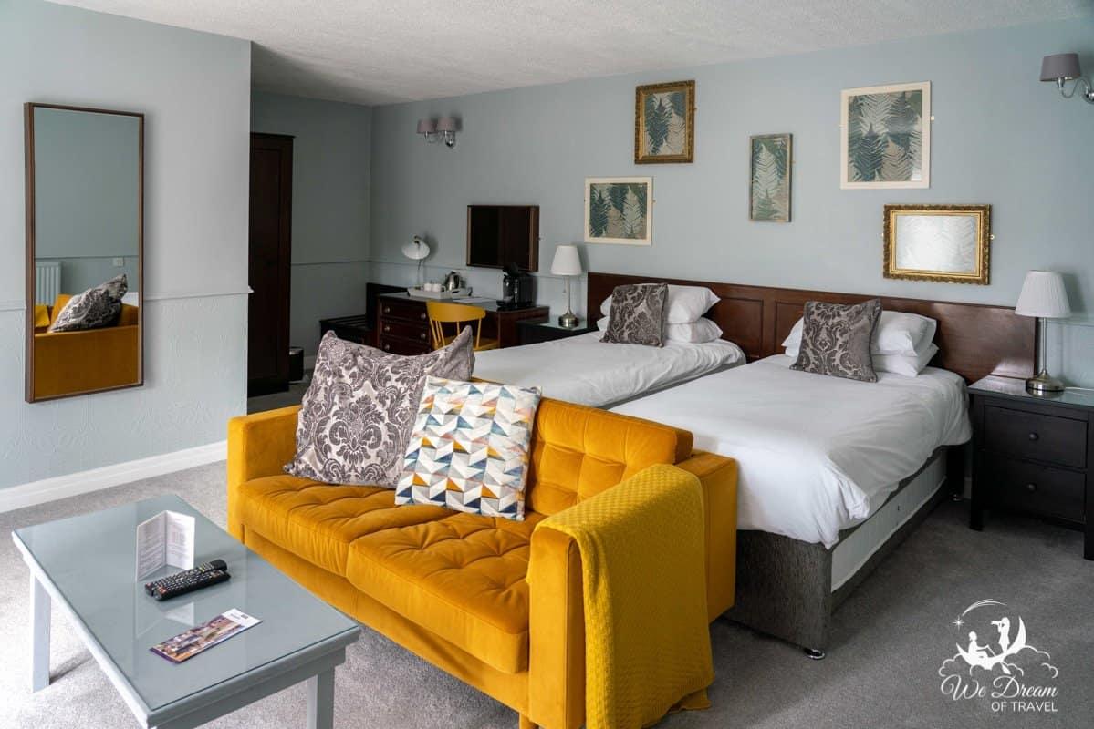 bedroom at Manor Court Hotel in Bridlington.