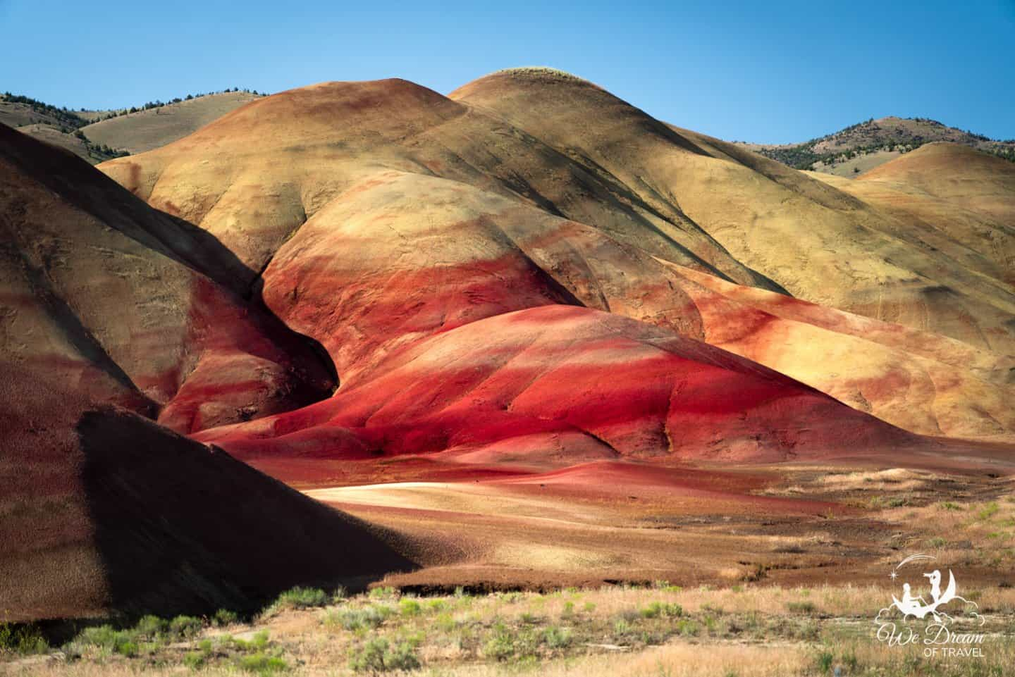Morning light on the Painted Hills of Oregon near Mitchell.