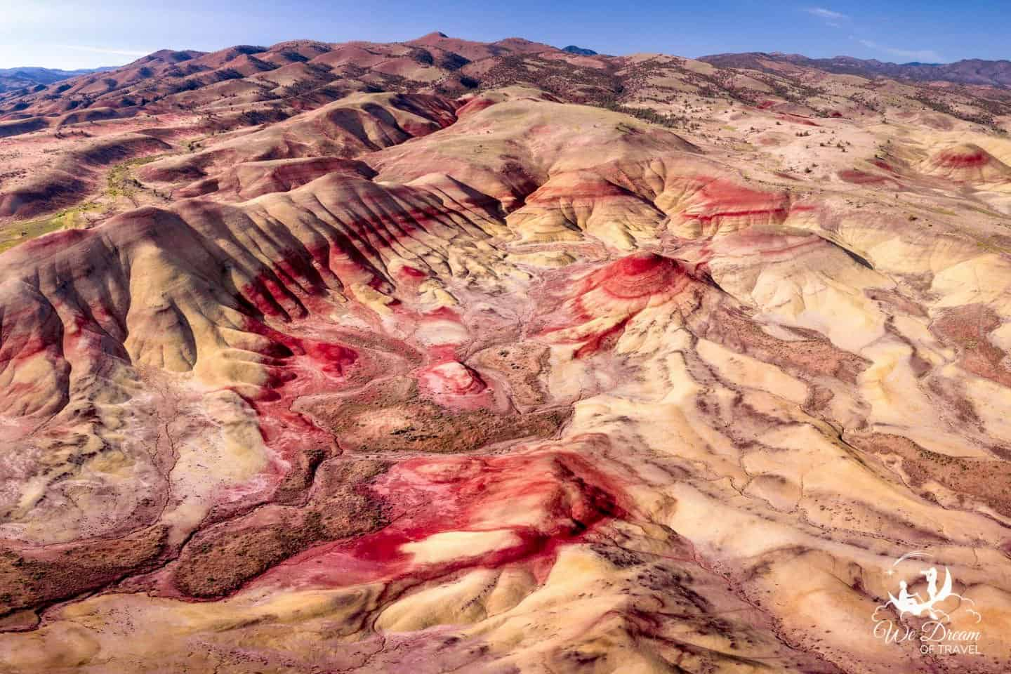 Aerial view of the John Day Fossil Beds National Monument.
