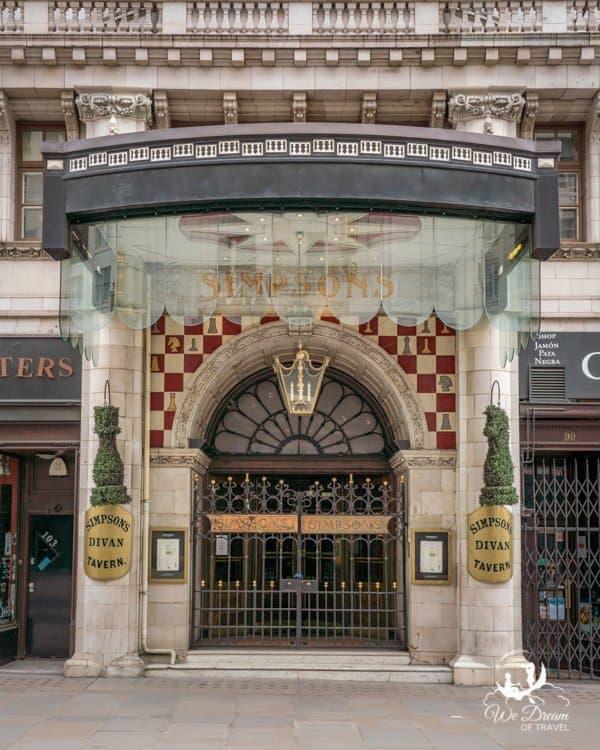 Simpson's restaurant on the Strand London