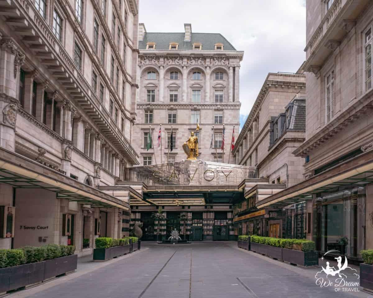 The Savoy Hotel on Strand London