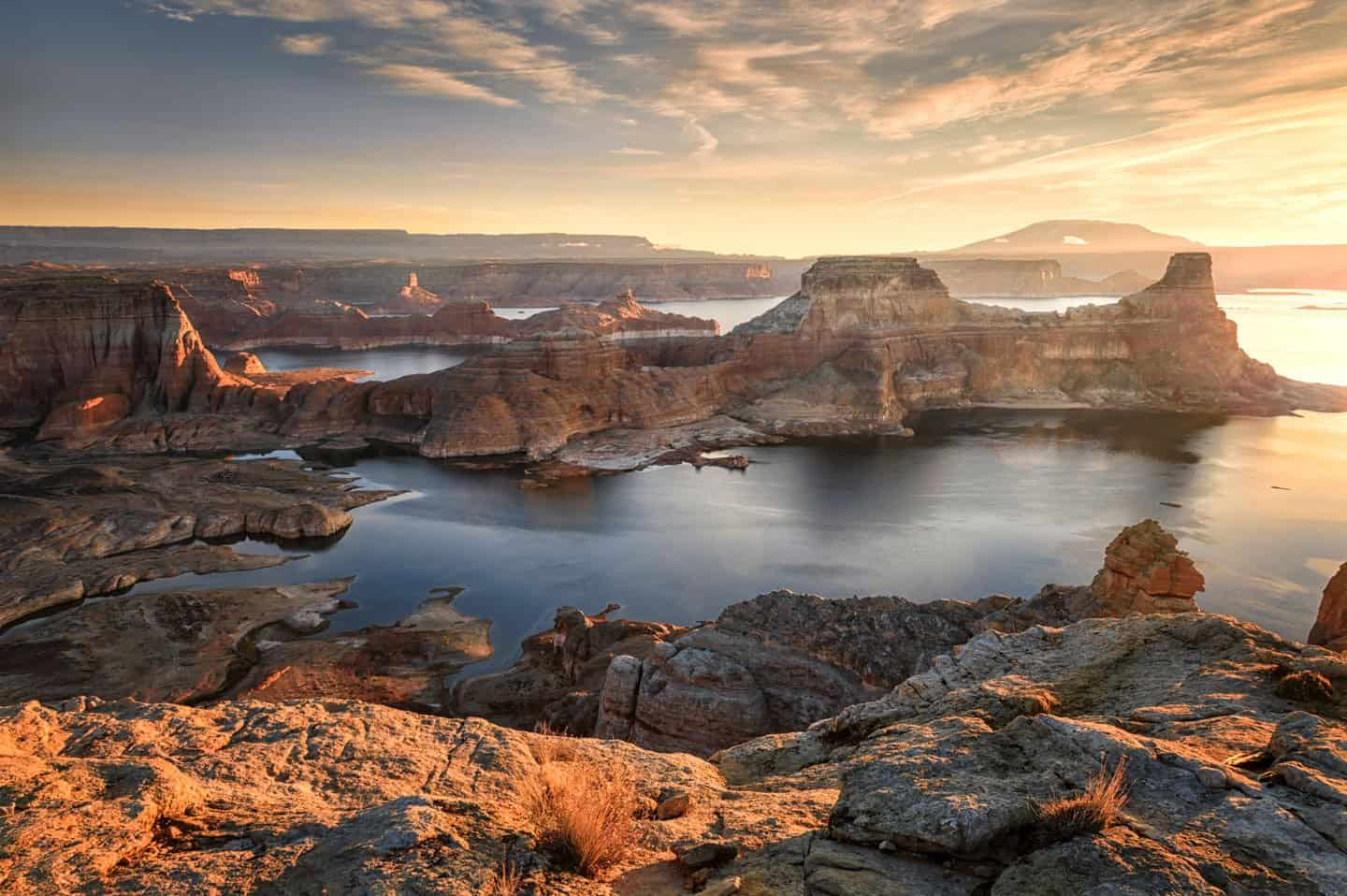 Alstrom Point is one of the best places for sunset in Page, as shown here.