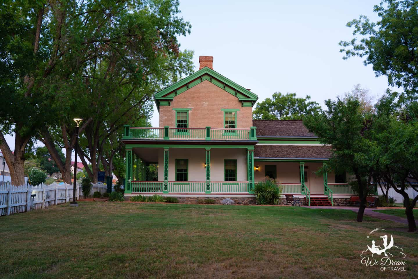 The exterior of the Brigham Young Winter Home, a top attraction in St George Utah.
